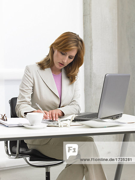 Schreibende Geschäftsfrau