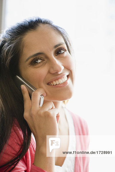 Woman talking on her cell phone