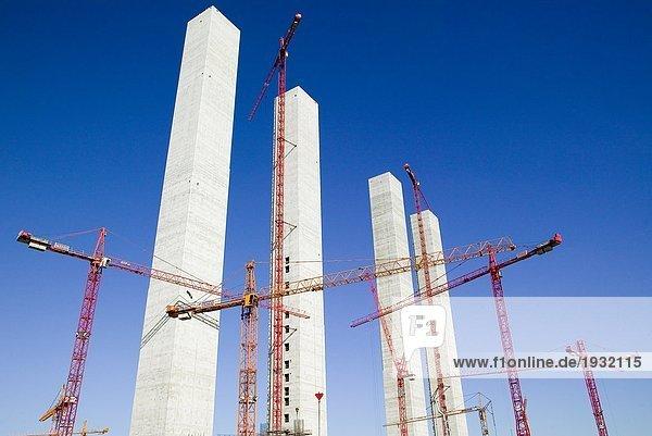 Bau eines Kraftwerkes