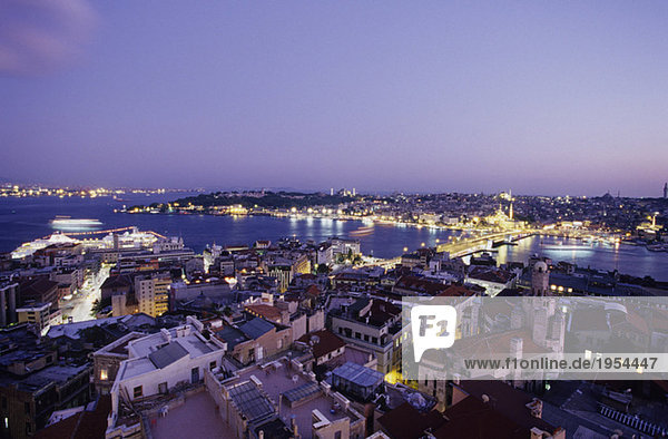 Istanbul  view from the Galata Tower  Turkey