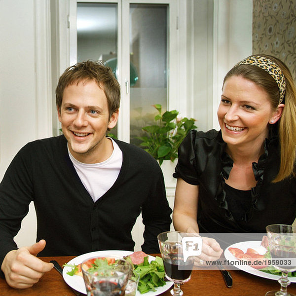 Couple at the dinner table