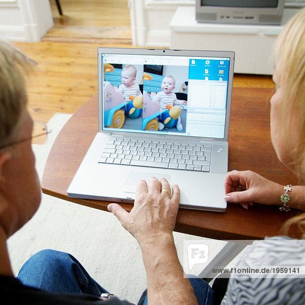 Computer im Wohnzimmer