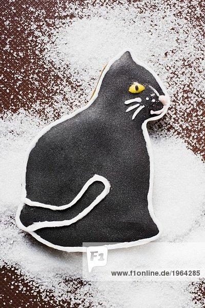 Schwarze Lebkuchenkatze Schwarze Lebkuchenkatze