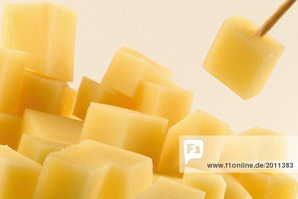 Gewürfelte Gruyere Käse