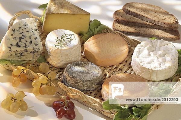 Platte mit französischer Käse