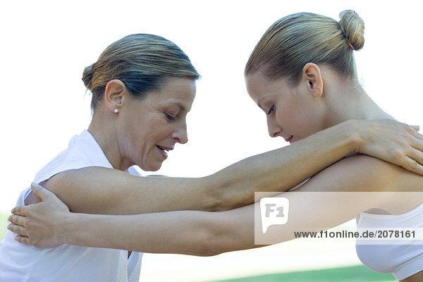 Frau empfangen Therapie