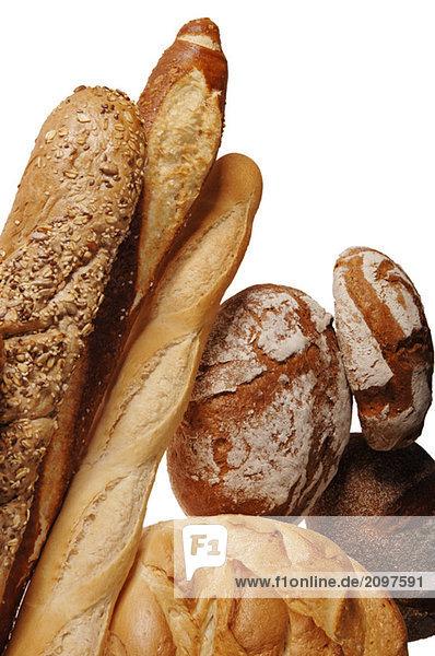 Verschiedene Brotsorten  Nahaufnahme