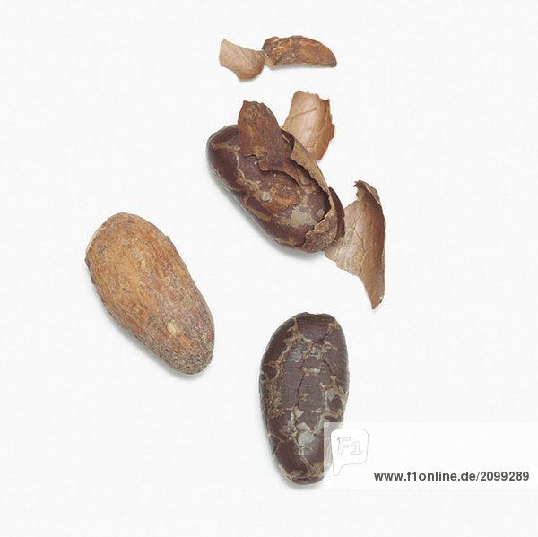 Kakaobohnen  Nahaufnahme