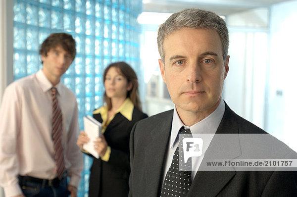 Geschäftsmann im Amt  Porträt
