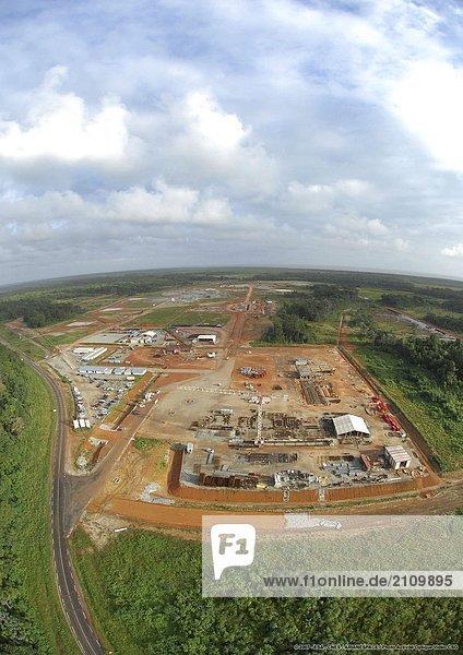 Luftbild von Space center