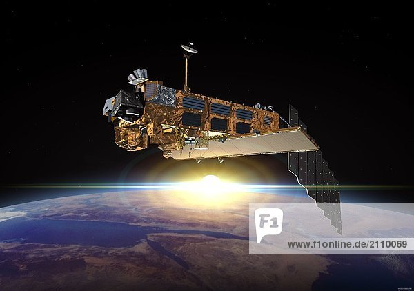 Um die Erde umkreisen Satelliten Envisat
