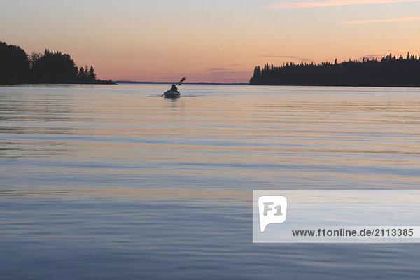 'Sunset at Clear Lake
