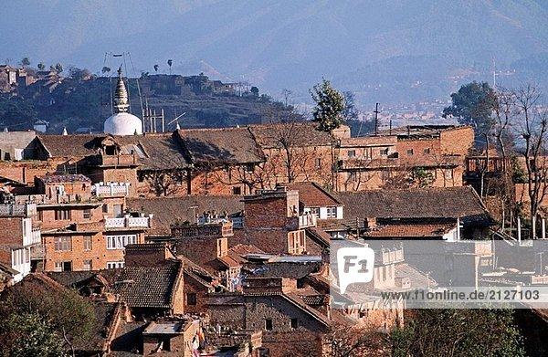 Nepal. Kirtipur. Stupa.