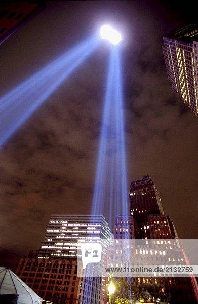 World Trade Center Memorial Licht  Manhattan  NYC. USA