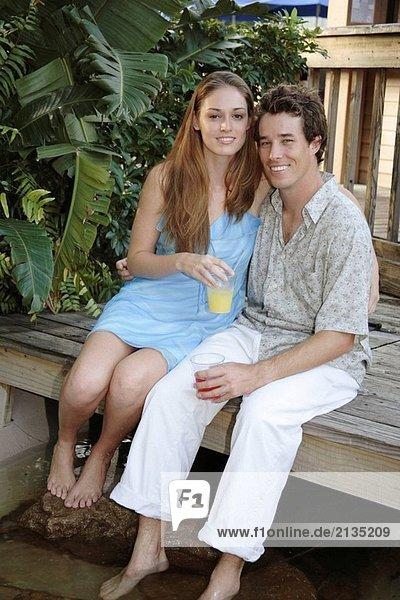 Paar in einem resort