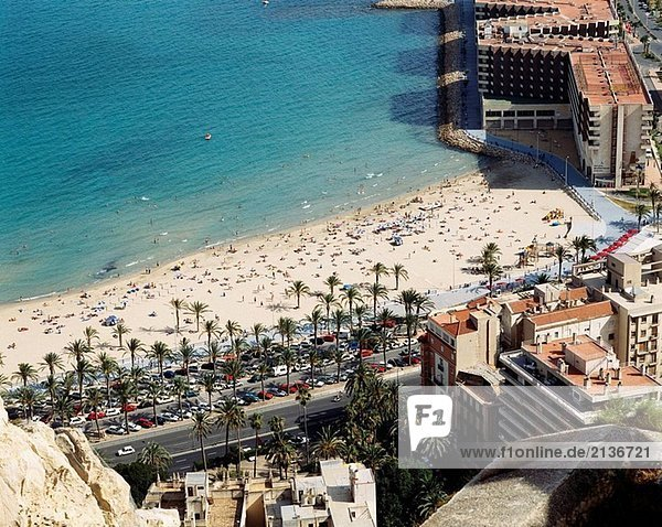 Postiguet beach  Alicante. Comunidad Valenciana  Spain