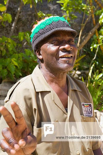 Bob Marley´s Mausoleum warden  Nine Mile  Jamaica