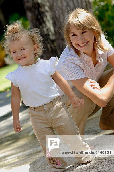 Mutter und Tochter. Miami  Florida  USA.