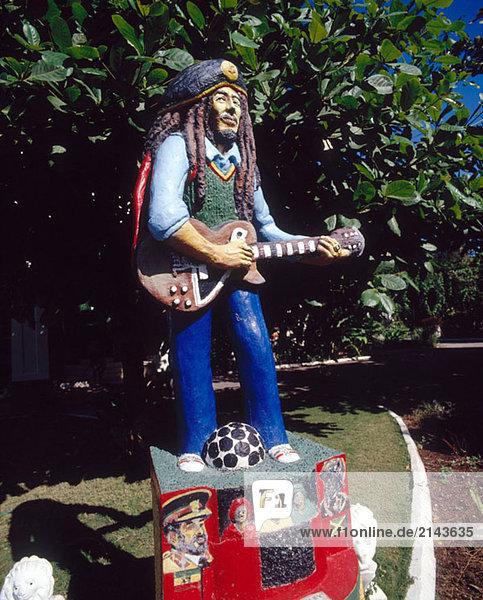 Statue von Bob Marley Bob Marley Museum. Kinsgton. Jamaika