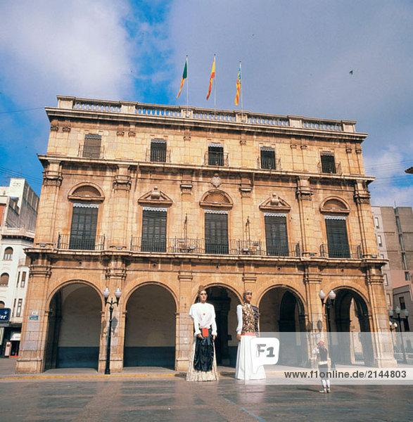 Rathaus (1689 – 1716) in Hauptplatz  Castellon. Comunidad Valenciana  Spanien