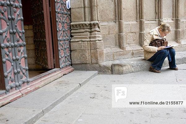 Santa Maria del Mar  gotische Kirche. Barcelona  Spanien
