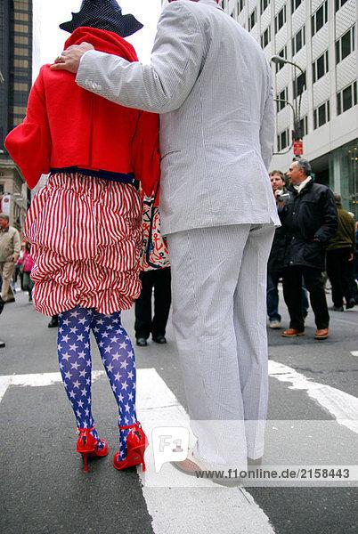 Frau Symbol Großstadt Nationalität Fahne amerikanisch Kleidung Kostüm - Faschingskostüm April Verkleidung Ostern Manhattan neu Parade