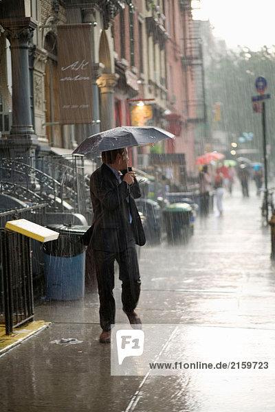 NYC  8th Street im Regen. USA.
