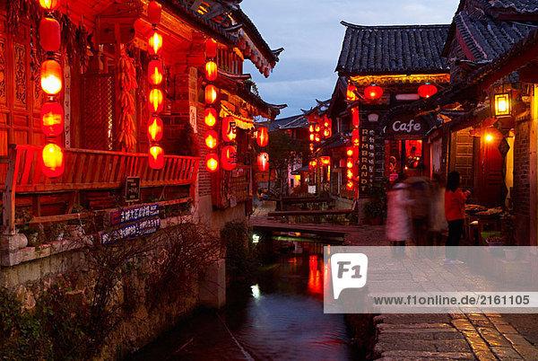 Großstadt China UNESCO-Welterbe Lijiang Yunnan