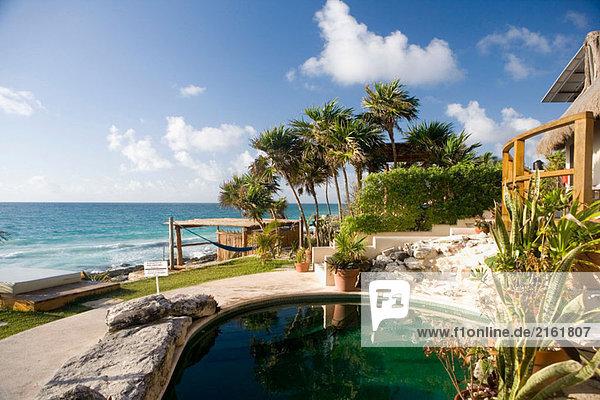 Mezzanine. Mayan Riviera. Yucatan Peninsula. Mexico