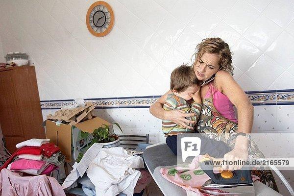 Interior  zu Hause  Frau  Kampf