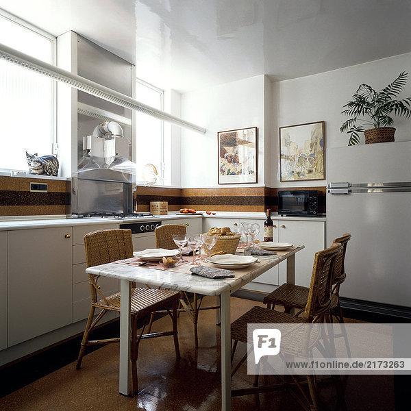 am Tisch essen Küche Ansicht Tisch
