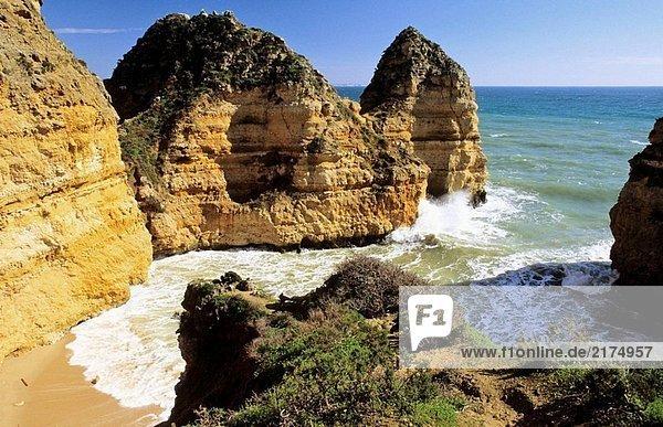 Felsen am Ponta da Piedade  Algarve  Portugal
