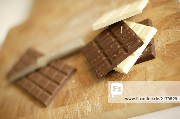 Nahaufnahme Schokoladenriegel
