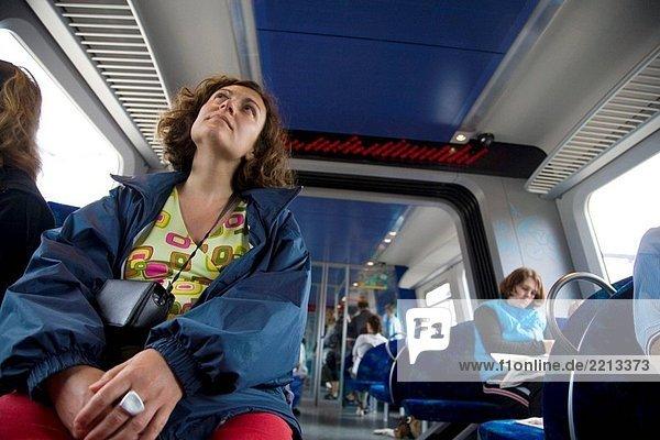 Reisen mit dem Zug. Dänemark.