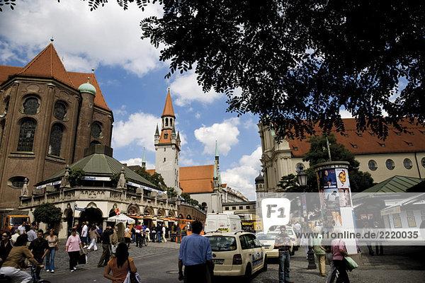 Deutschland  Bayern  München  Viktualienmarkt