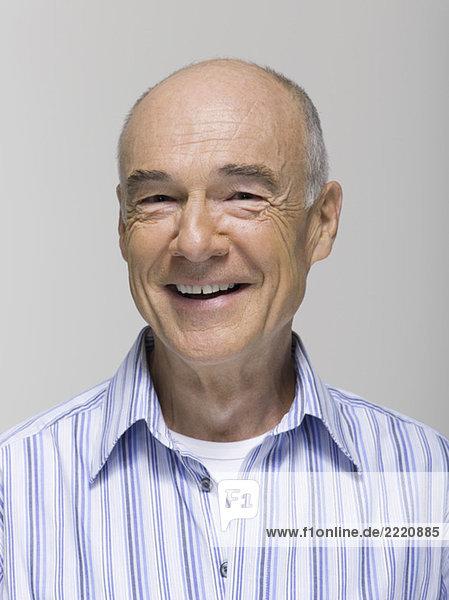 Porträt eines älteren Mannes  Nahaufnahme