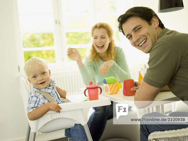 Young family with baby boy  (12-24 months)