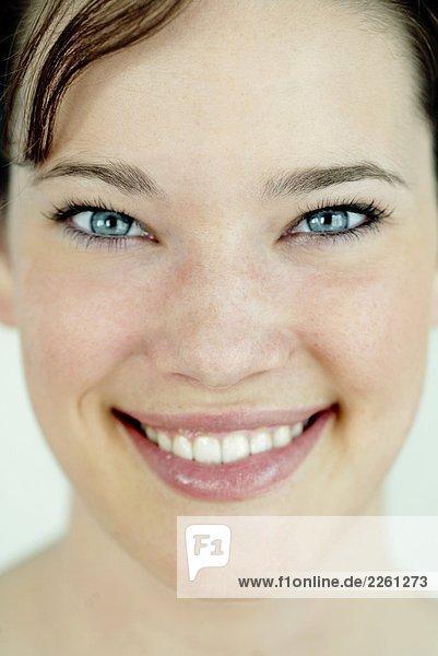 Junge Frau portrait mund