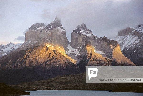 Cuernos del Paine  Torres del Paine National Park. Chile Cuernos del Paine, Torres del Paine National Park. Chile