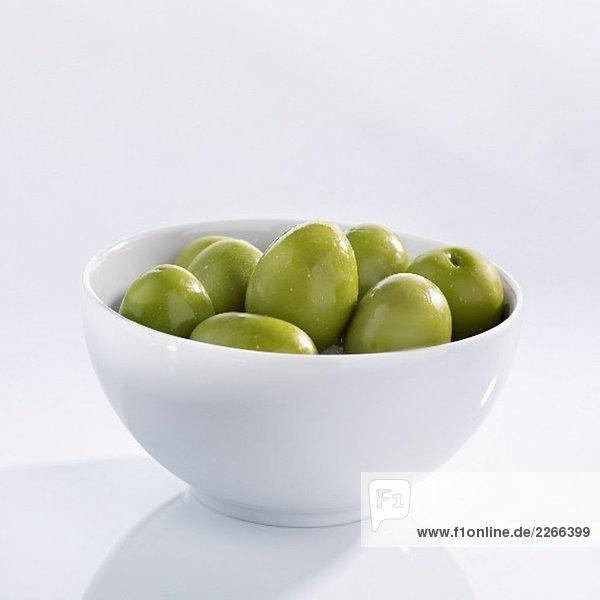 Grosse  grüne Oliven