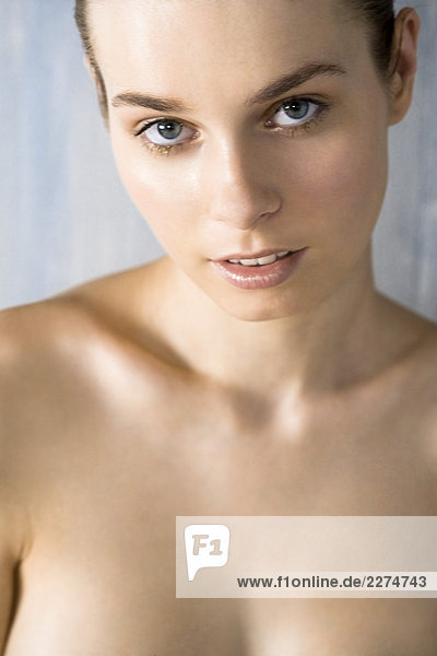 close up Frau Gesicht