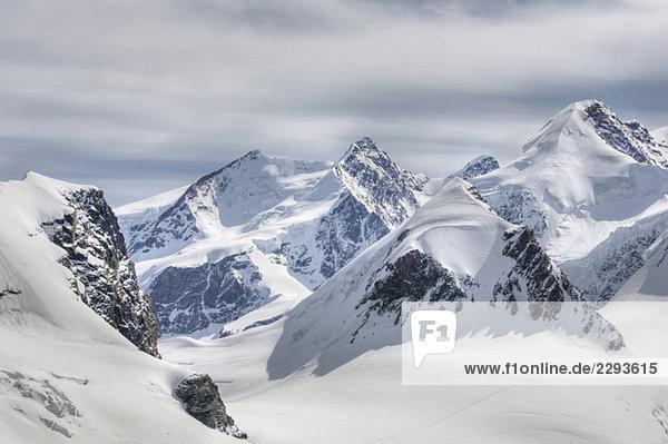 Italien  Monte Rosa  Cervinia  schneebedeckte Berge Italien, Monte Rosa, Cervinia, schneebedeckte Berge