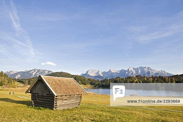 Deutschland  Bayern  Karwendelgebirge  Geroldsee