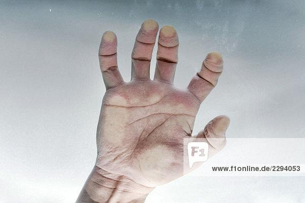 Hand underwater