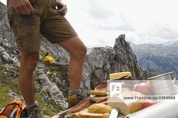 Austria  Salzburger Land  couple having a picnic
