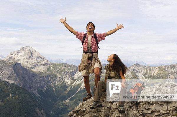 Austria  Salzburger Land  couple cheering
