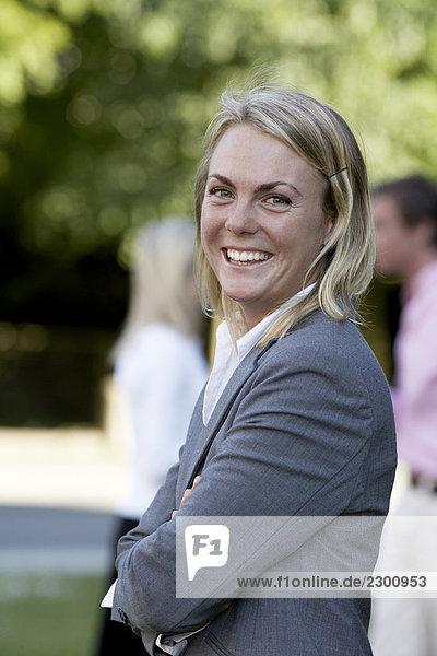 Portrait von einem lächelnden Frau Schweden