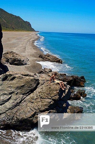Strand von Targa. RIF-Region  Mittelmeerküste. Marokko