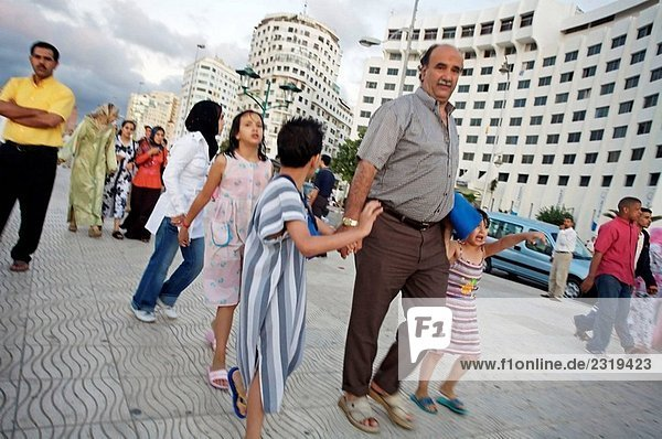 Street. Tangier. Mittelmeerküste. Marokko
