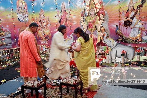 Mauritius  Triolet  Divali hindu-fest  religiöse Zeremonie